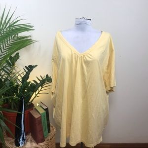 Woman Within Sunshine Yellow V-Neck Tee